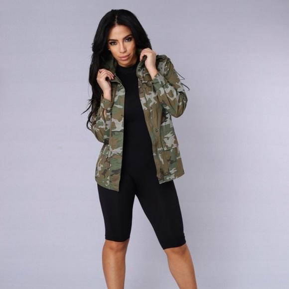 d05cbb8a Fashion Nova Jackets & Blazers - Fashion Nova Camo Jacket